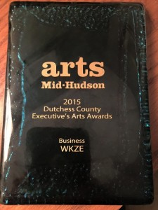 Arts Mid-Hudson Award - plaque 2015